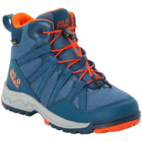 Jack Wolfskin Thunderbolt Texapore Mid-Cut Schuhe Kinder blue/orange